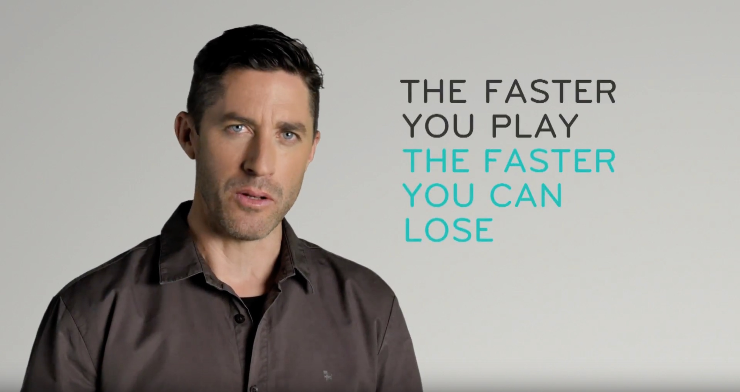 The faster you play, the faster you can lose